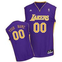 Buy cheap Adidas Los Angeles Lakers Customized New Purple Road Youth NBA Jersey product