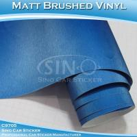 Buy cheap Brushed Pearl Blue Car Wrap Vinyl Roll product