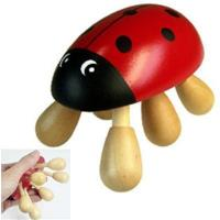 Buy cheap lady beetle animal wooden massager product