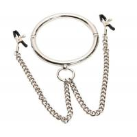 Buy cheap Metal Round Bondage Collar with Nipple Climp product