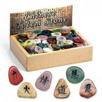 Buy cheap Chinese Totem Stone, 20 assorted, 144pcs per display. product