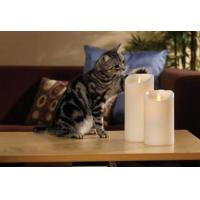 Buy cheap Moving Wick Mirage Flameless Unscented Wax Pillar Candle product