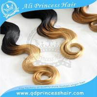 hot selling charming body wave Peruvian virgin hair weaving ombre hair weaves 1b/613#