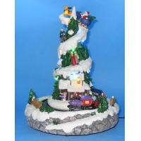 Buy cheap 9 LED Tree With Rotation Train With Music. from wholesalers