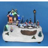 Buy cheap 8 LED Village With Skating Children. from wholesalers