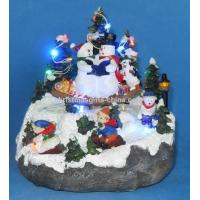 Buy cheap 7 LED Village With Swing Snowman. from wholesalers