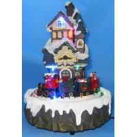 Buy cheap 9 LED House With Rotation Train. from wholesalers
