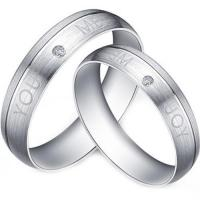 Buy cheap Gold COI Titanium You and Me Ring - JT2810 product