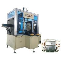 Buy cheap Big power long stack length pump stator Horizontal type coil final forming machine from wholesalers