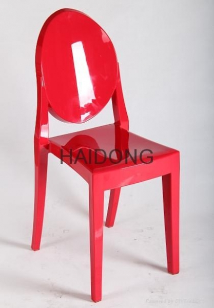 Popular Images Of R GH V16 Solid Rose Red Resin Leisure Victoria Ghost Chair