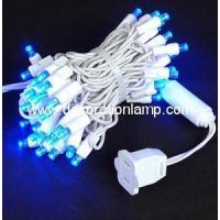 Buy cheap LED blue Christmas lights 50 5mm mini wide angle from wholesalers