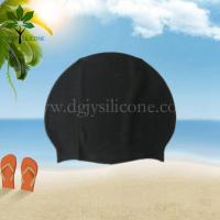 Buy cheap The silicone bracelet black silicone swim cap, silicone swimming cap manufacturer product