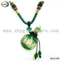 Buy cheap Colorful Eound Glass Perfume Oils Bottle Pendant product
