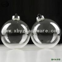 Buy cheap Clear Glass Christmas Ball Ornaments product