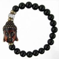 Buy cheap Natural Black Agate Buddha Bracelet product