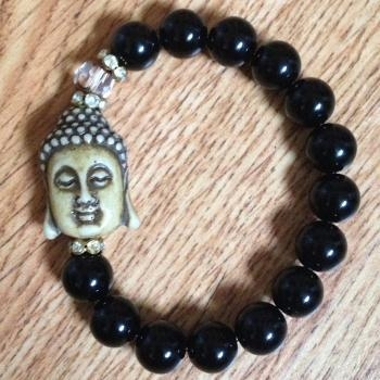 Quality Black Agate Buddha Bracelet for sale
