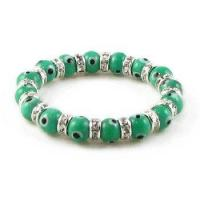 Buy cheap Swarovski Aquamarine Evil Eye Bracelet, Medium Beads product