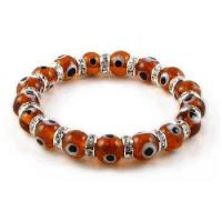 Buy cheap Zirconia Amber Evil Eye Bracelet, Medium Beads product