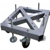 Buy cheap Custom Welding Fabrication 290*290mm Spigot Square Truss Steel Base With Wheel product