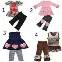 Buy cheap Valentine's day fashion design girls boutique clothing sets product