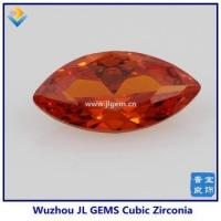 Synthetic Orange Color Marquise CZ Stone With High Quality