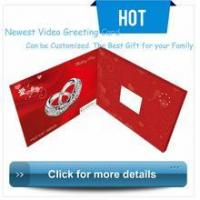 Buy cheap Greeting Video Card luxurious wedding invitation card,video wedding cards design product