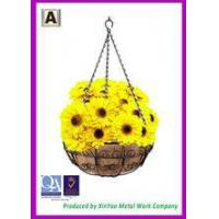Buy cheap Hanging flower basket Hanging wire basket and Coir fiber liners Hanging planters baskets BH090015 product