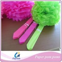 Buy cheap Popular Colorful Tissue Paper Flower Balls,Colorful Tissue Paper Pom Poms Flowers product