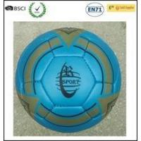 New Design Blue Color Hand Stitched PU Soccer Ball