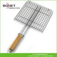 QGN0112 Cheap BBQ Grill Net With Wooden Handle