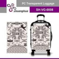 Buy cheap summer holiday&travelling transparent pc customized suitcase product
