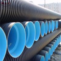 Buy cheap Compression strength double wall corrugated hdpe poly pipe product