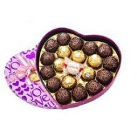 Buy cheap Wholesale custom purple color heart shape chocolate gift box product