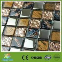 Buy cheap Recommend Mosaic Interior decoration stainless steel mix glass mosaic tile from Wholesalers
