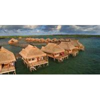 Buy cheap Light Steel Frame Houses Yellow Overwater Bungalow product