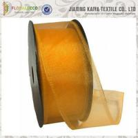 Buy cheap Sheer Organza Ribbon with Wired Edge product