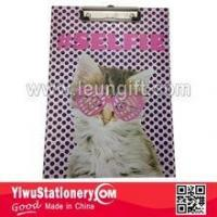 Buy cheap BACK TO SCHOOL Quality Cat Printed Writing Paper Clipboard product