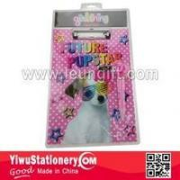 Blister Packing Pink Dog Printed Writing Paper Clipboard