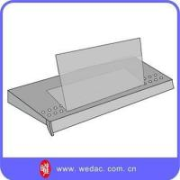 Buy cheap cosmetic display stand Goods Shelf Plastic PVC Card Price Sign Holder product