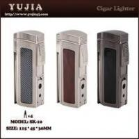Buy cheap Best High-end Multi-fonction four flame cigar lighter with cigar cutter and punch product
