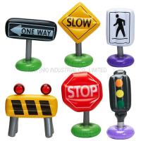 Buy cheap 6-pc Incredible Inflatable Traffic Signs Pretend Play Cars Toy Outdoor Indoor from Wholesalers