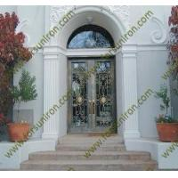 Buy cheap entry doors wrought iron door with transom product
