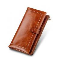 China womens leather wallets with clasp coin purse on sale