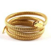 Buy cheap stainless steel simulation gold snake bangle product