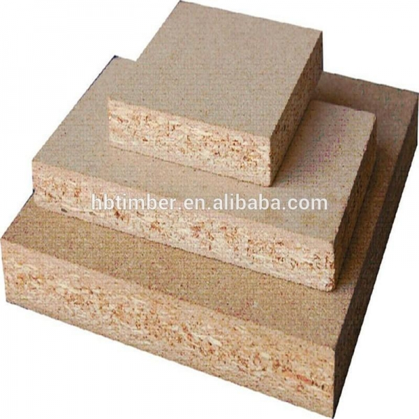 Timber wood grain melamined waterproof particle board for