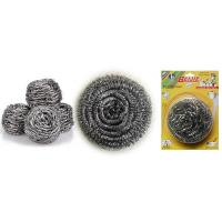 Buy cheap stainless steel scourer/sponge/cleaning ball for kitchen with plastic handle Scourer product