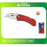 Buy cheap Aluminium or Zinc folding pocket knife high quality quick release blades head locked product