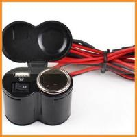 Buy cheap DC12-24V Waterproof USB Port Motorcycle Cigarette Lighter Charger product