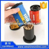 Buy cheap Plastic Film Novelty Toothpick Holder / Promotional Toothpick Box Dispenser product