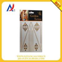 Buy cheap necklace tattoo sticker and metallic gold foil sticker product